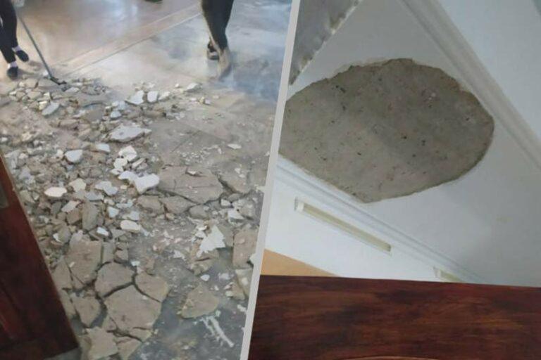 В одной из школ Ставрополя на голову девочки упал кусок штукатурки