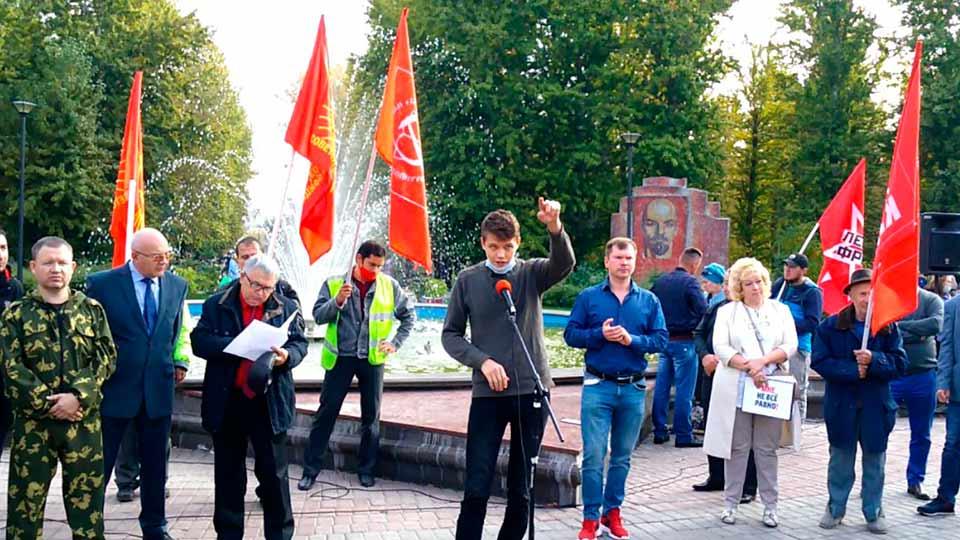 Максим Мухаметзянов на митинге