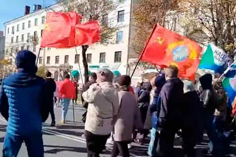 В Хабаровске состоялся традиционный митинг, после силового задержания граждан в прошлую субботу