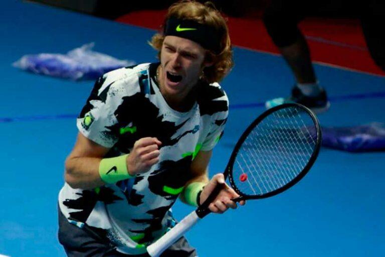 Российский теннисист Рублев занял восьмое место в рейтинге ATP