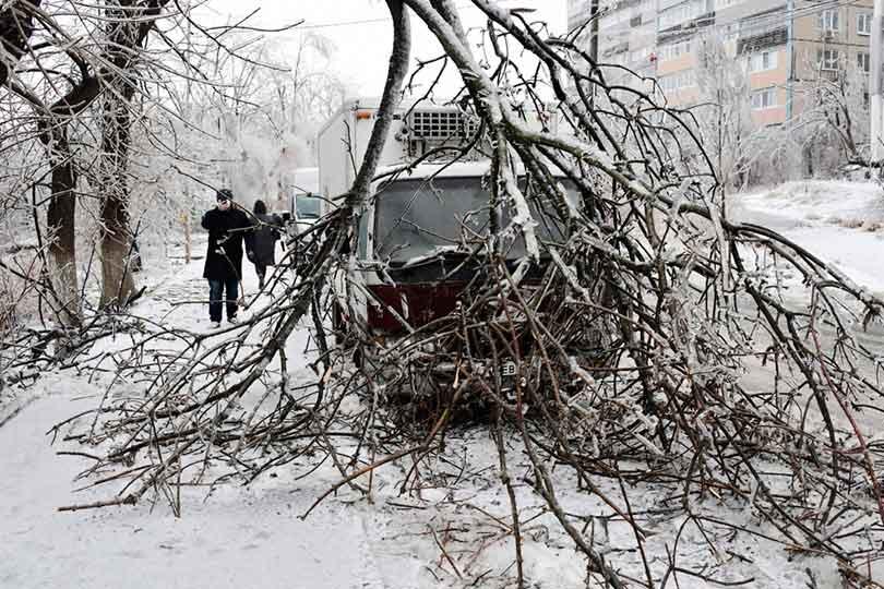 Снежный циклон в Приморье