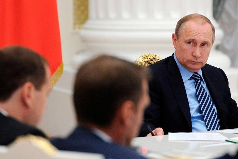 Путин в Кремле и правительство