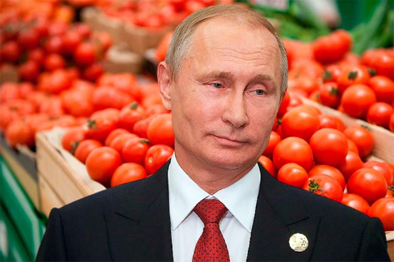 Путин с помидорами