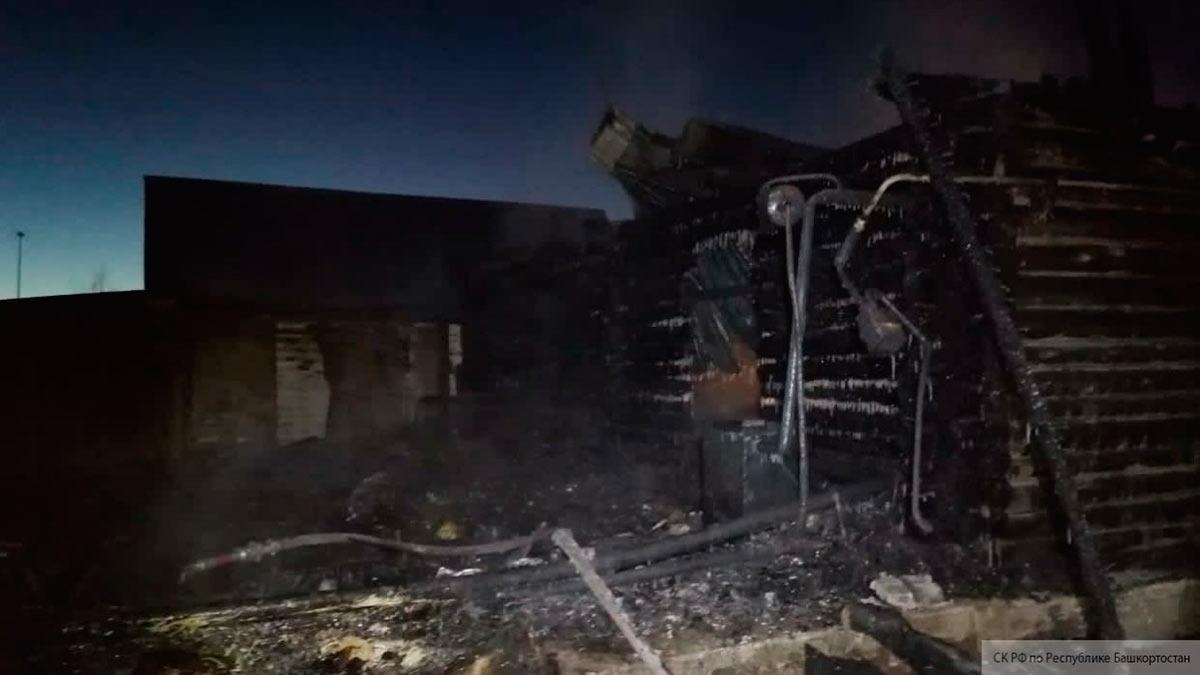 Cгоревший в Башкирии дом престарелых