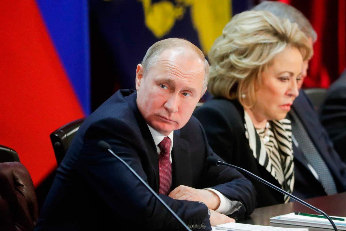 Матвиенко и Путин