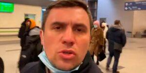 Бондаренко попытался пересечься с Навальным в аэропорту Внуково, во время его предполагаемого триумфального прилета на Родину