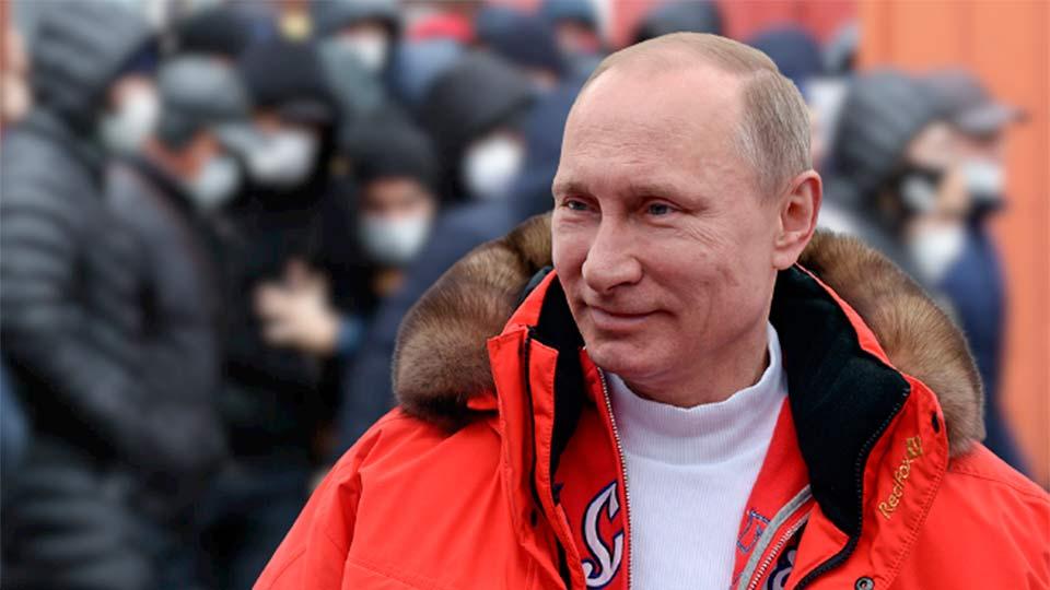Путин с мигрантами