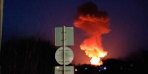 Сильнейший пожар со взрывом произошел в Перми на пороховом заводе