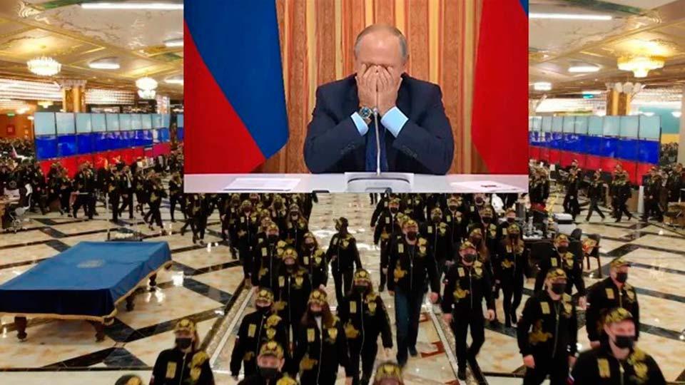 Флэшмоб в поддержку Путина