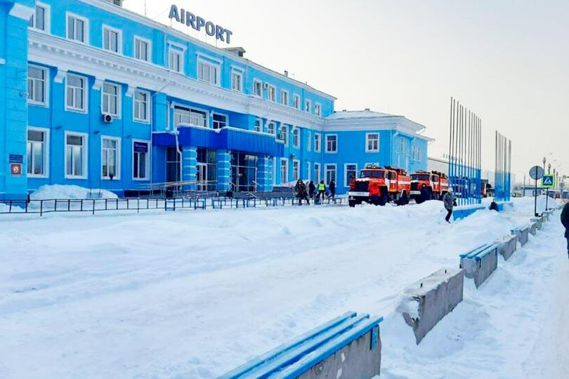 Иркутский аэропорт, пожар