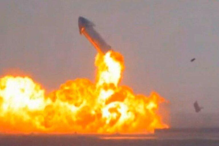 В США взорвался космический корабль Starship, предназначенный для полетов на Марс