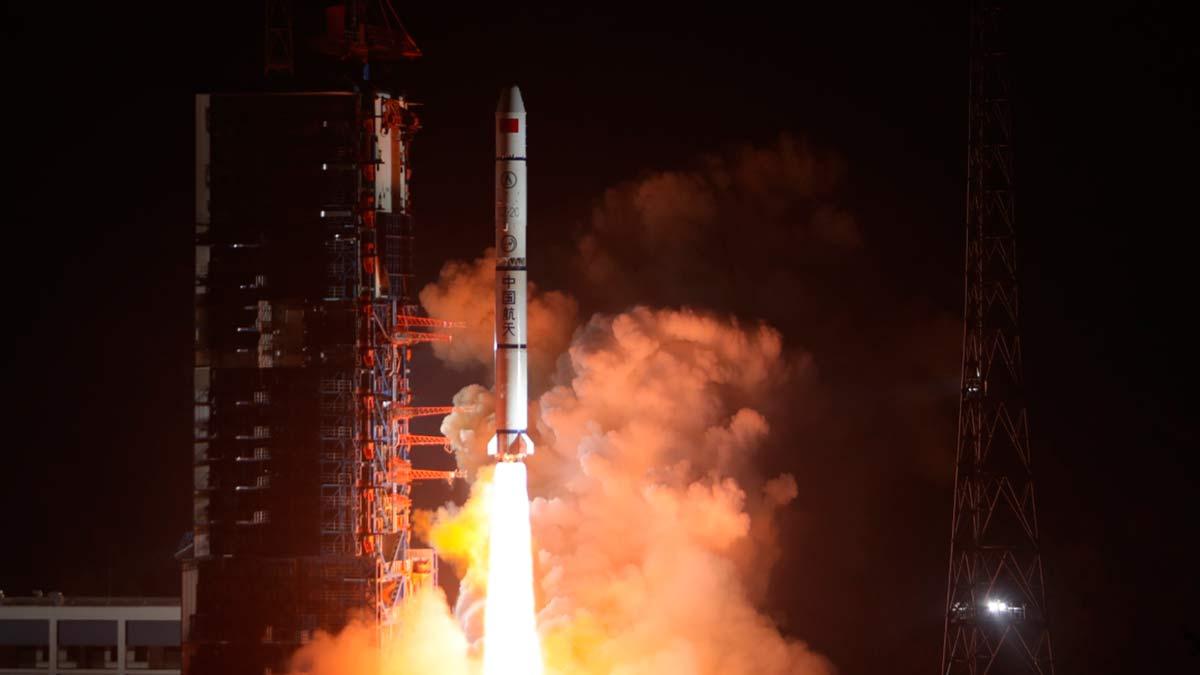 Запуск ракеты в Китае
