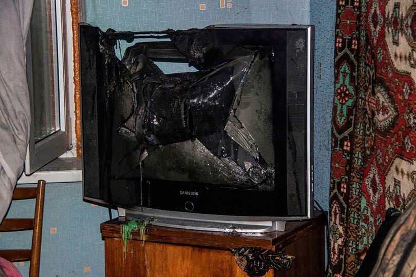Взорвался телевизор