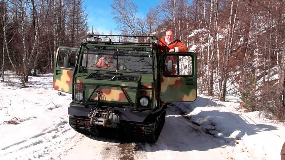 Путин и Шойгу в Тайге