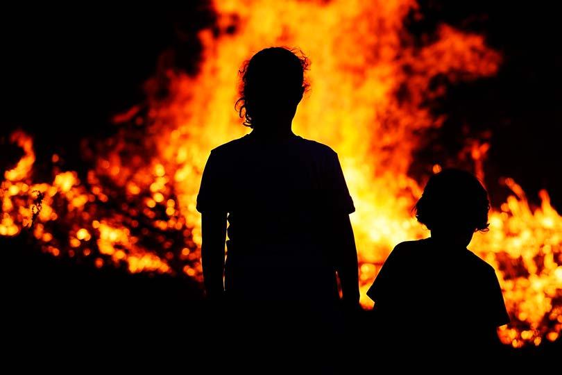 Пожар и детей