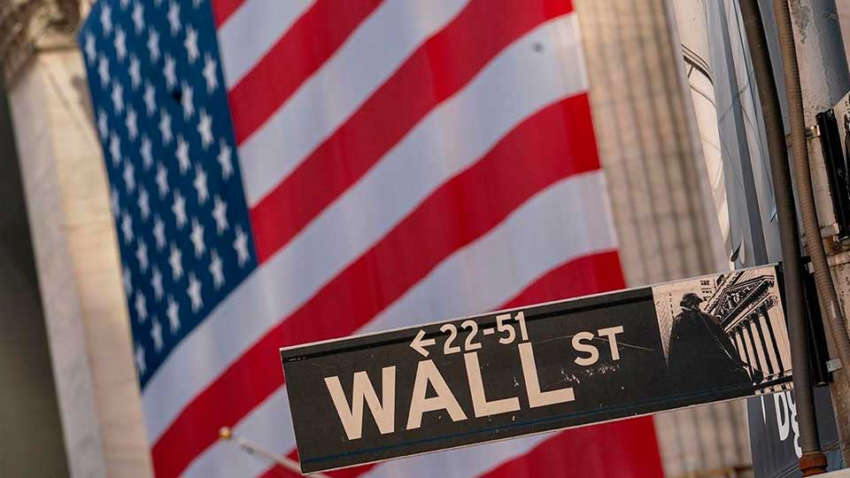 Фондовая биржа США Уолл стрит