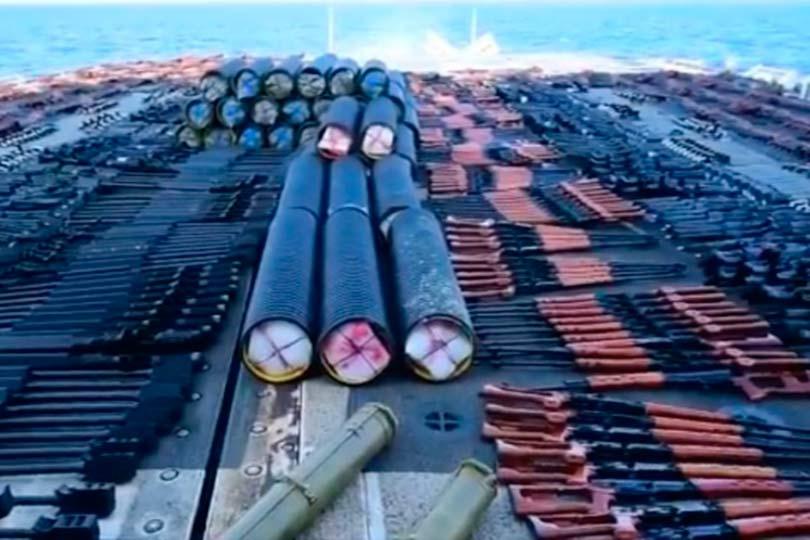 ВМС США заявил, что изъял с судна в Аравийском море партию российского оружия