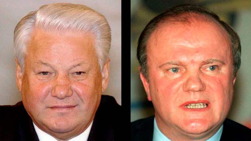 Зюганов и Ельцин драка
