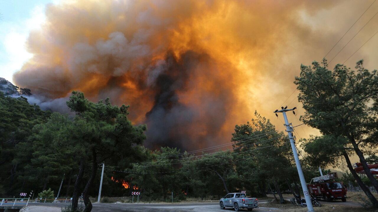 Пожар в Мармарисе