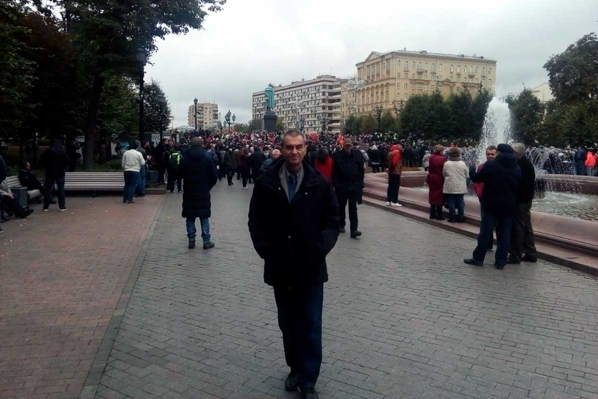 Прокофьев на митинге в Москве