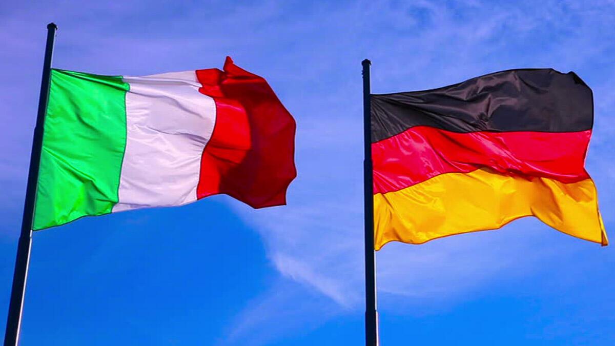 Флаги ФРГ и Италии