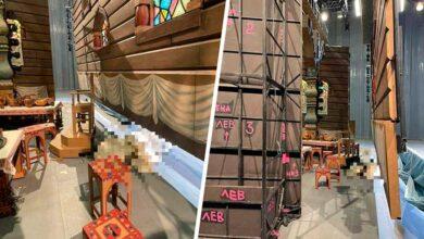 Декорации с места трагедии в Большом театре