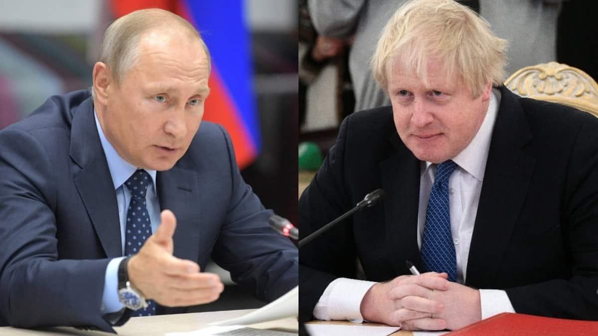 Путин и Джонсон